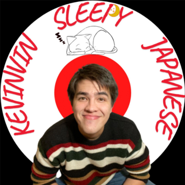 logo for the podcast Kevinvin Sleepy Japanese