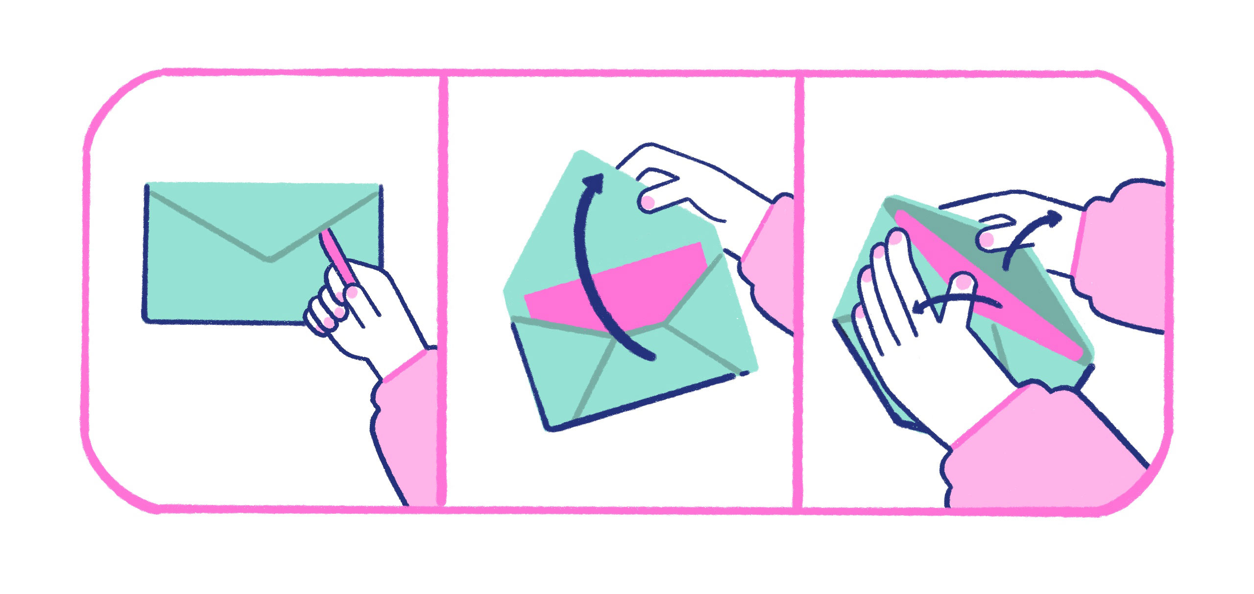 an envelope that is being opened