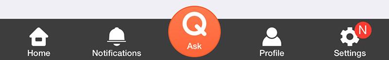 The Hi-Native app's tab bar
