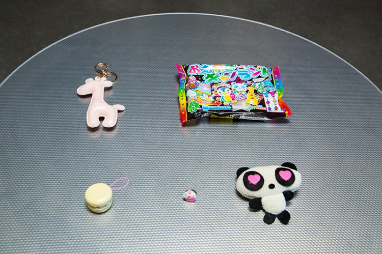 Keychain, panda plush and candy from Kawaii Box