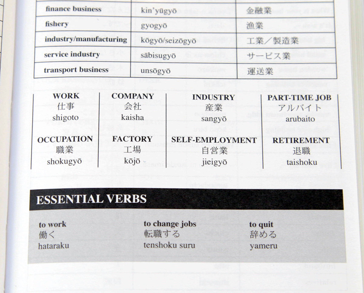 japanese for travelers essential verbs