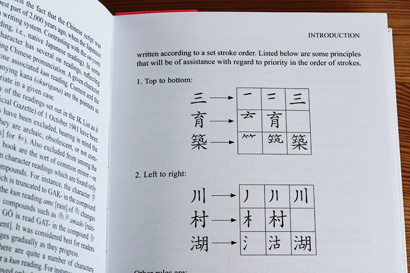 a guide to reading and writing japanese stroke order