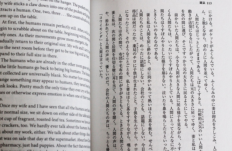 short stories in japanese mole people
