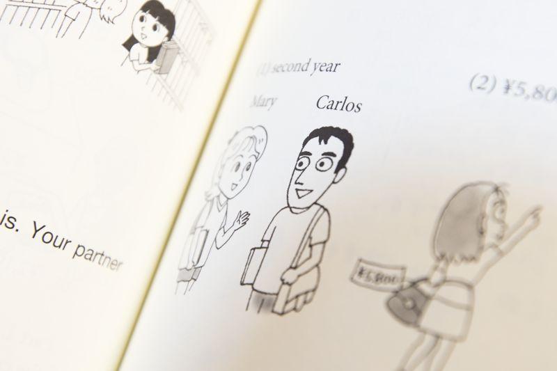drawn characters mary and carlos