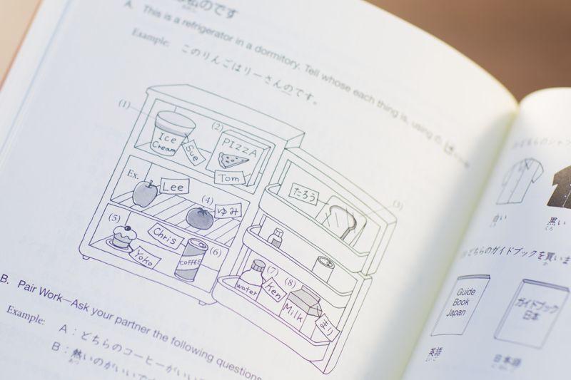 illustration of food in refrigerator
