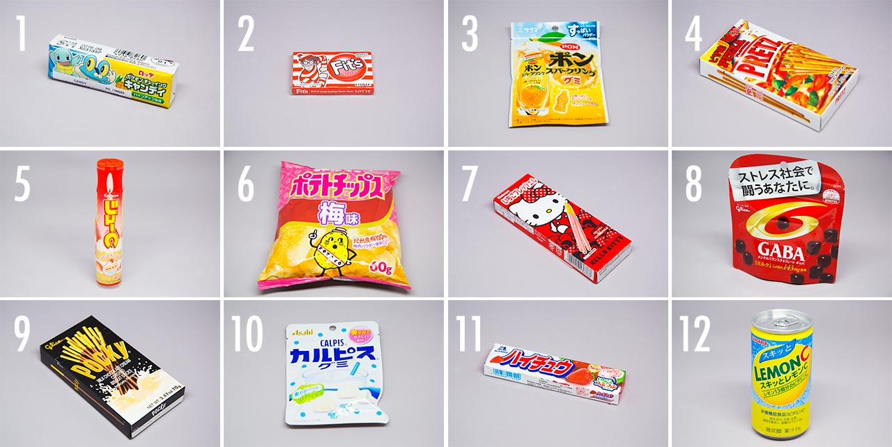 12 japanese snacks