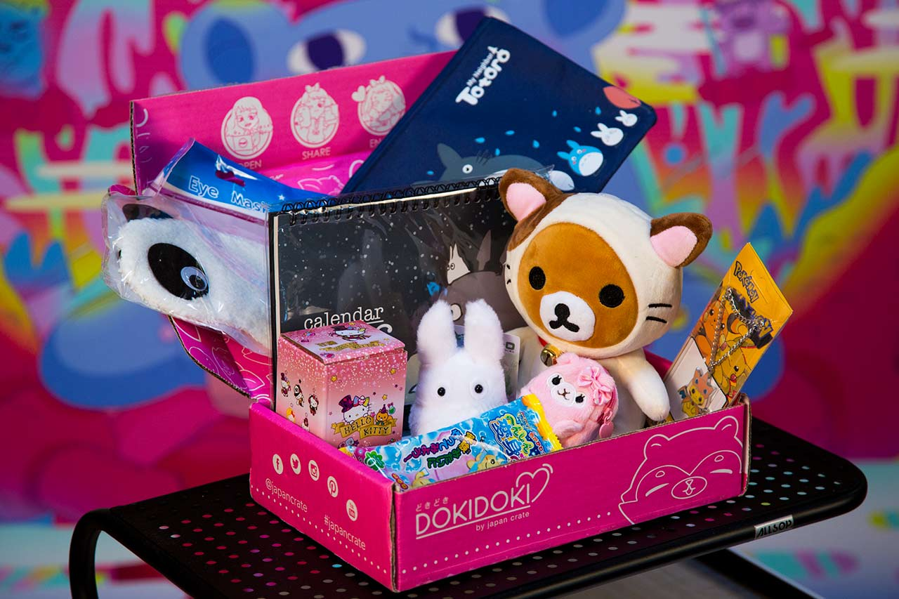 pink box filled with toys