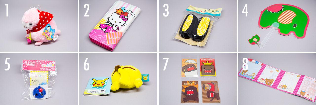 several japanese toys