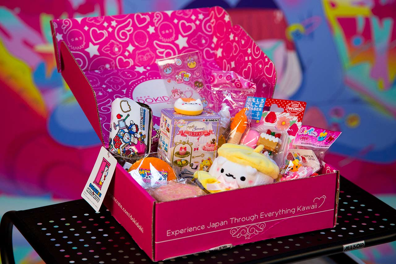 colorful japanese toys in a dokidoki box