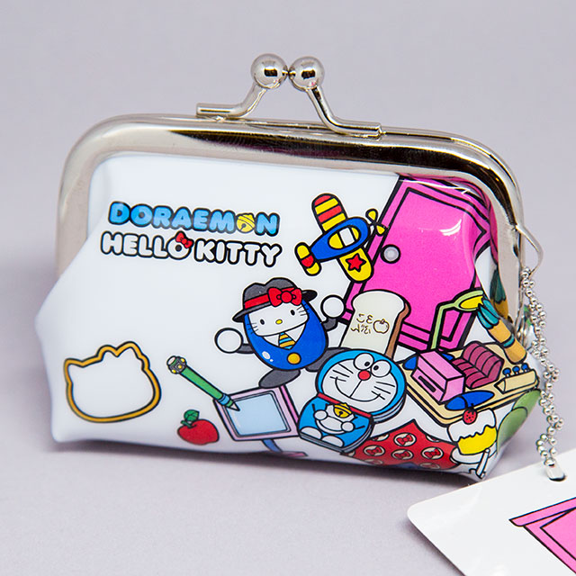 doraemon x hello kitty coin purse