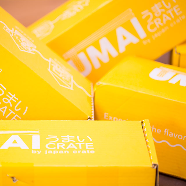 pile of umai crate boxes