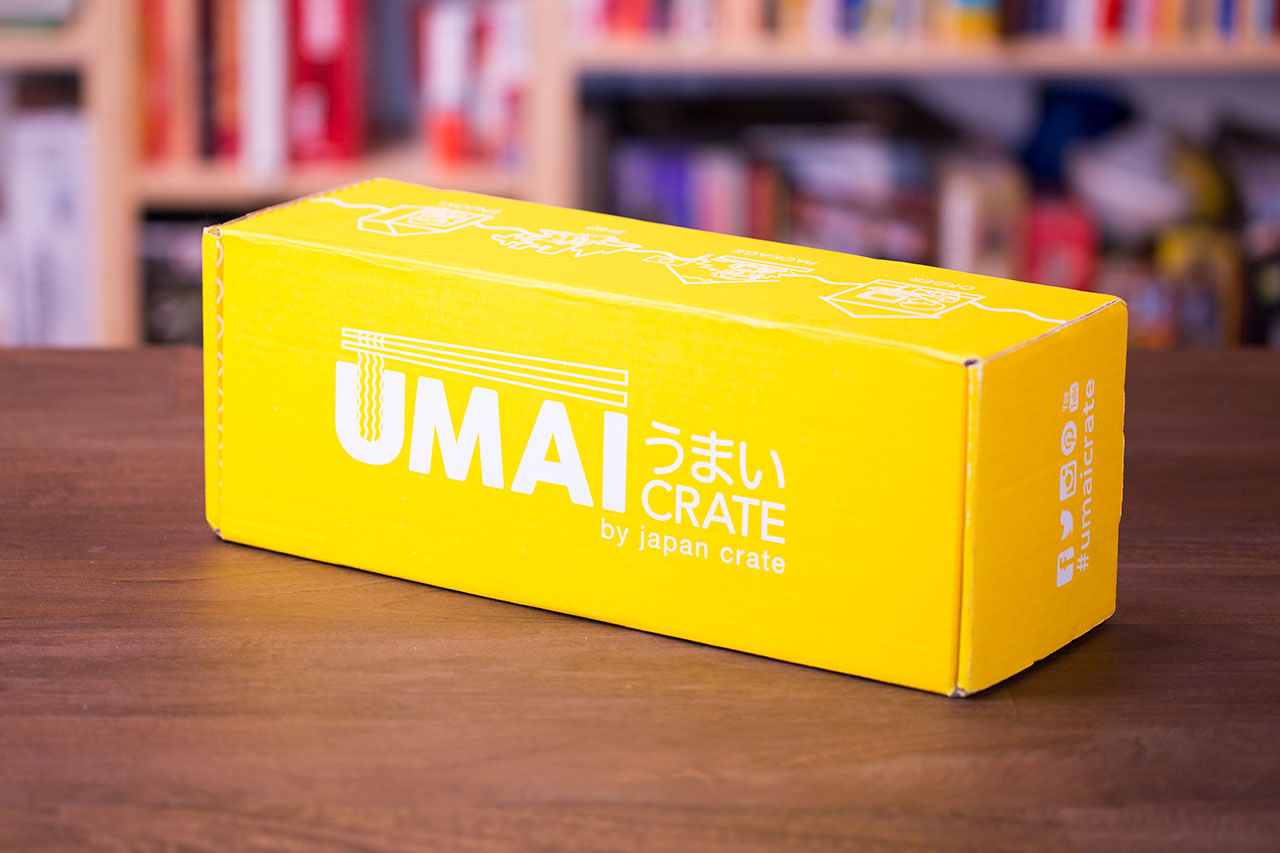 umai crate on a brown table