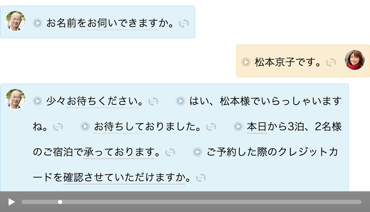 japanese dialogue used for language shadowing