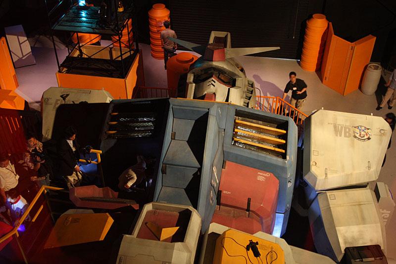 theme park gundam attraction