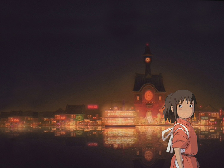 spirited away still building and girl