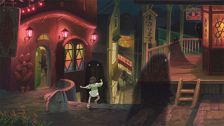 spirited away still running down stairs