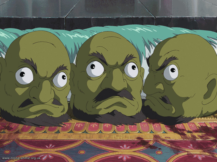 still from spirited away three green heads