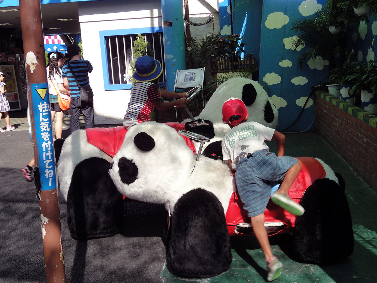 japan amusement park panda go-carts