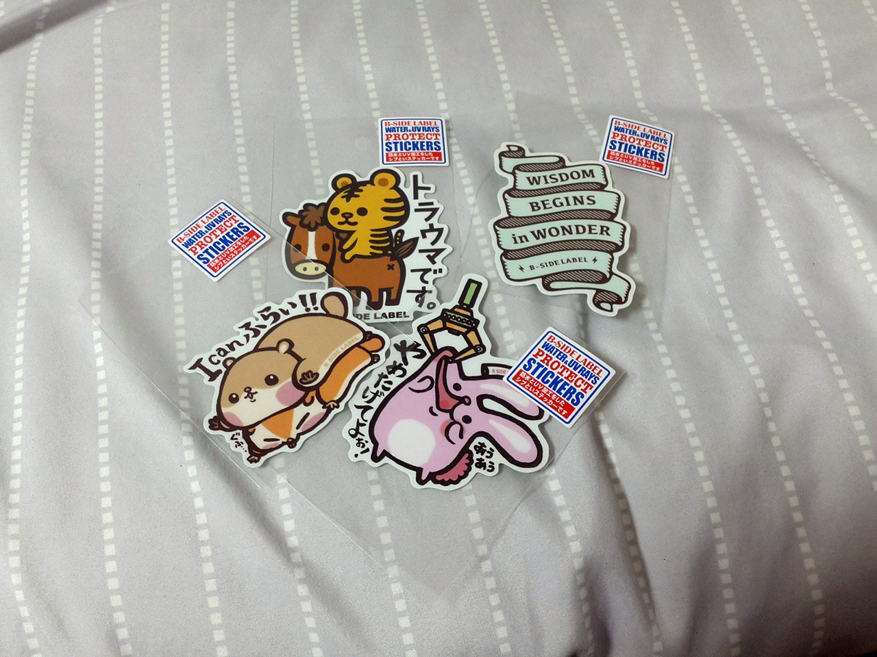 stickers from b side label japan