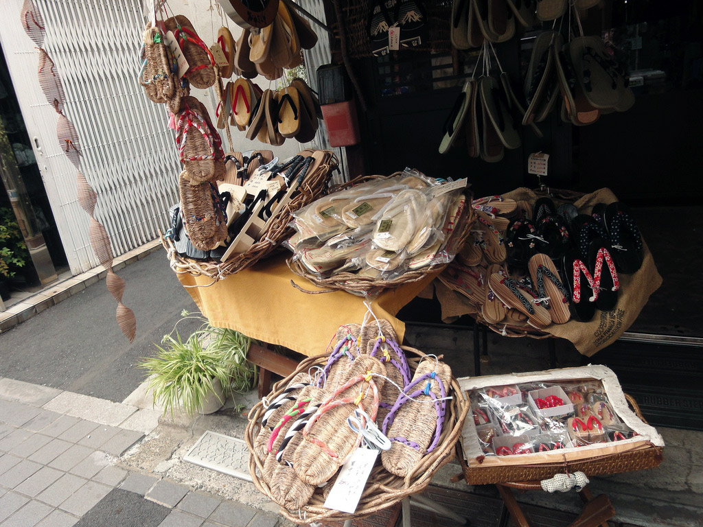 Japanese sandal shop