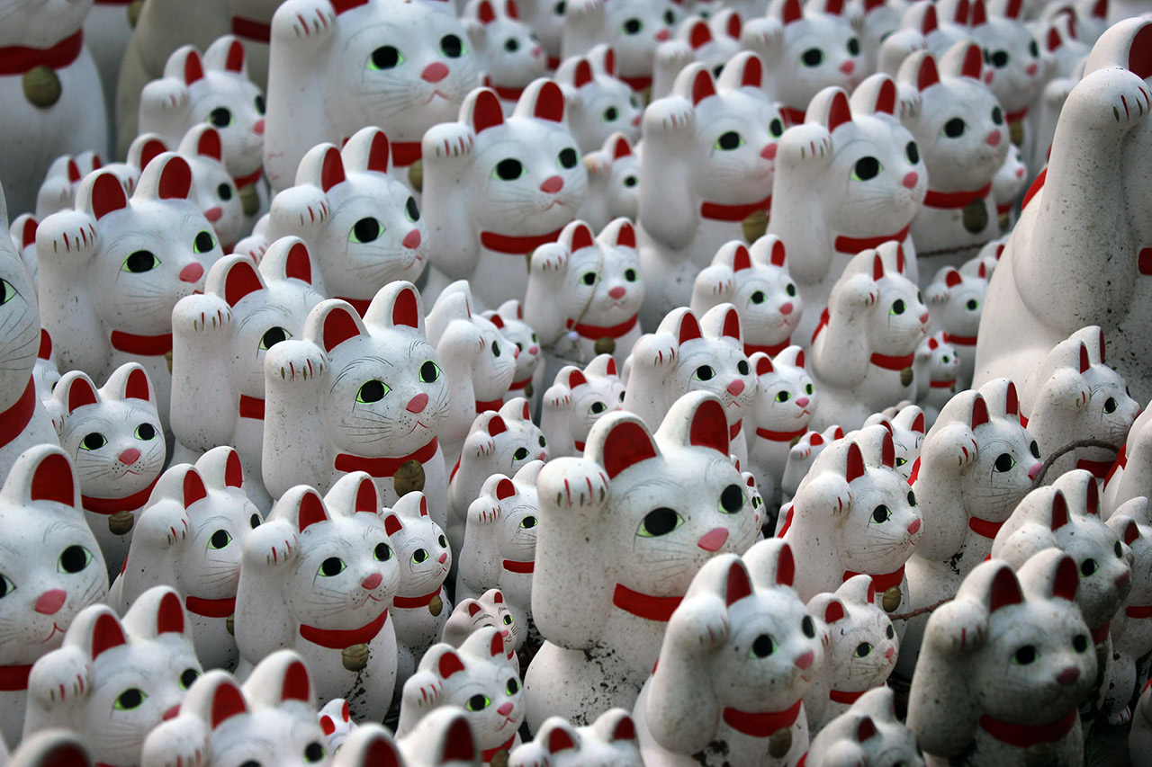 Gotokuji Temple - Cats, Cats, Cats, and... Cats?