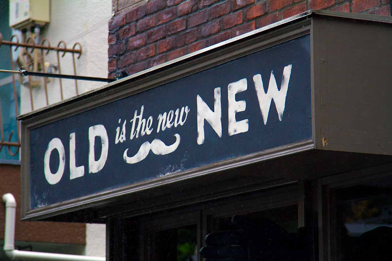 old is new sign