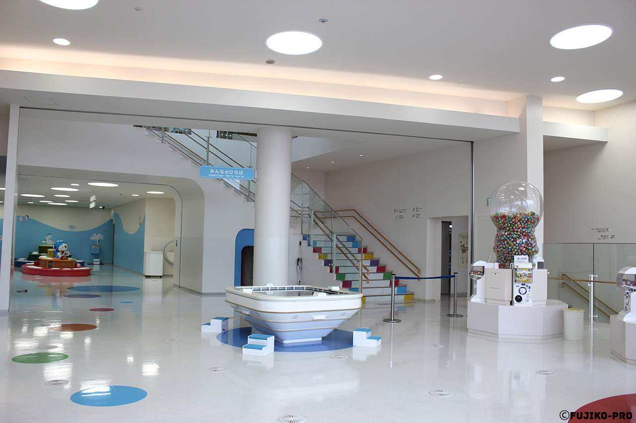 doraemon childrens museum hall with games white room