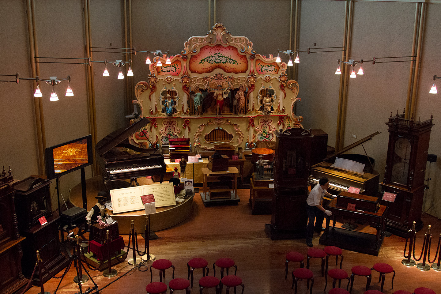 music box museum auditorium