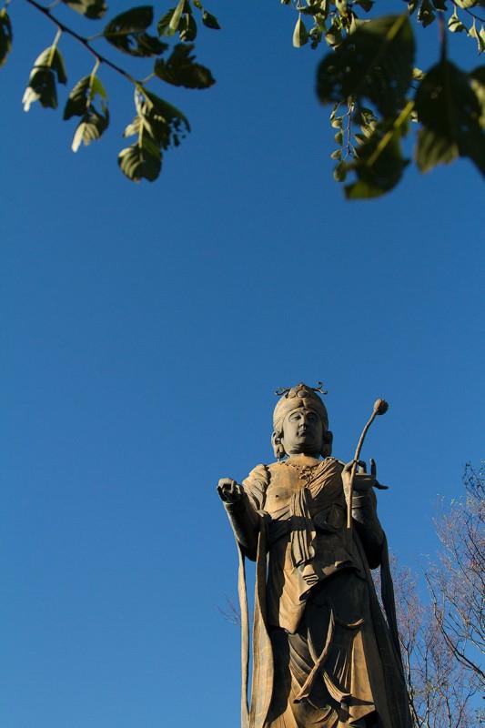 kanzanji temple kannon temple statue