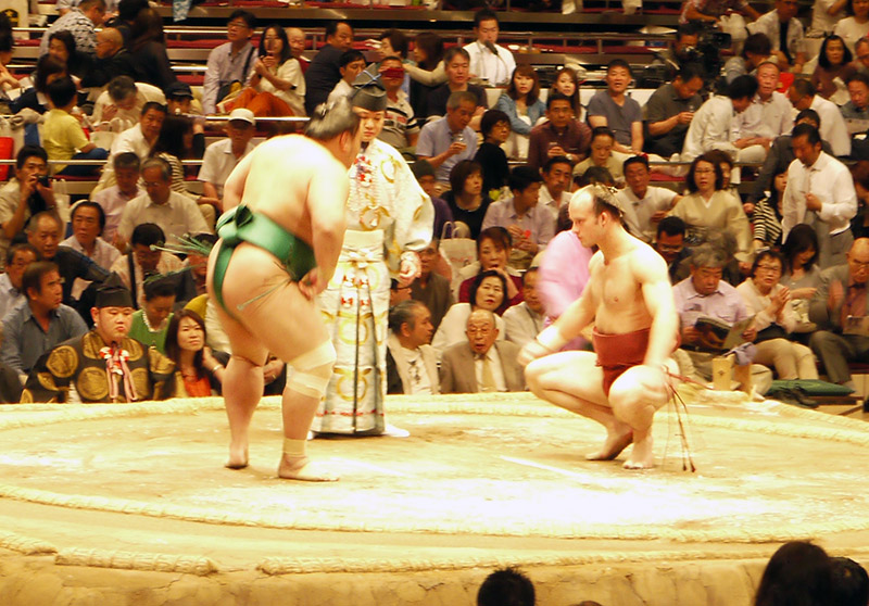 native and foreign sumo wrestlers face off