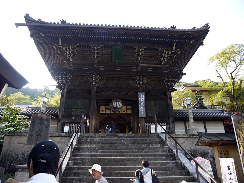 japanese wooden shrine hasadera