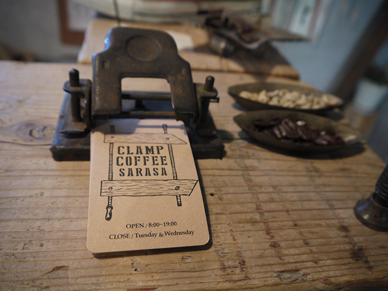 clamp coffee tokyo card business card coffee shop