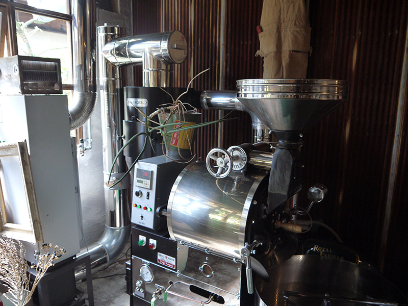 coffee roaster machine in store