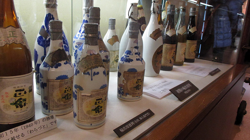 beautiful sake bottles blue and white