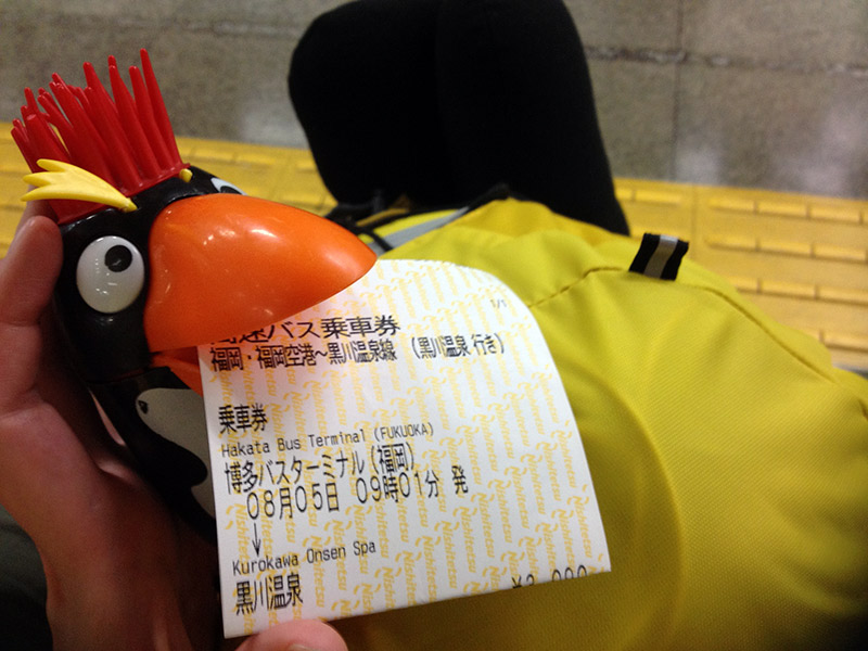 bus ticket punky the penguin