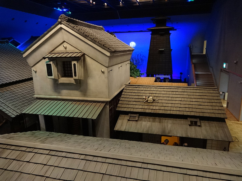 The roof of a house inside the Fukagawa Edo Museum