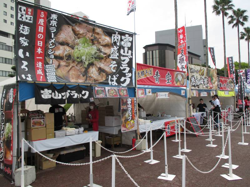 ramen shops at a festival