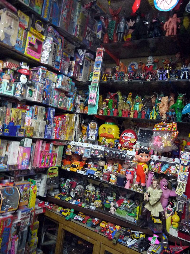 A plethora of various toys and school supplies