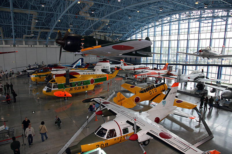Plethora of planes inside the JASDF Air Park and Museum