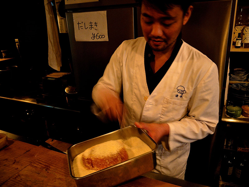 chef preparing tonkatsu