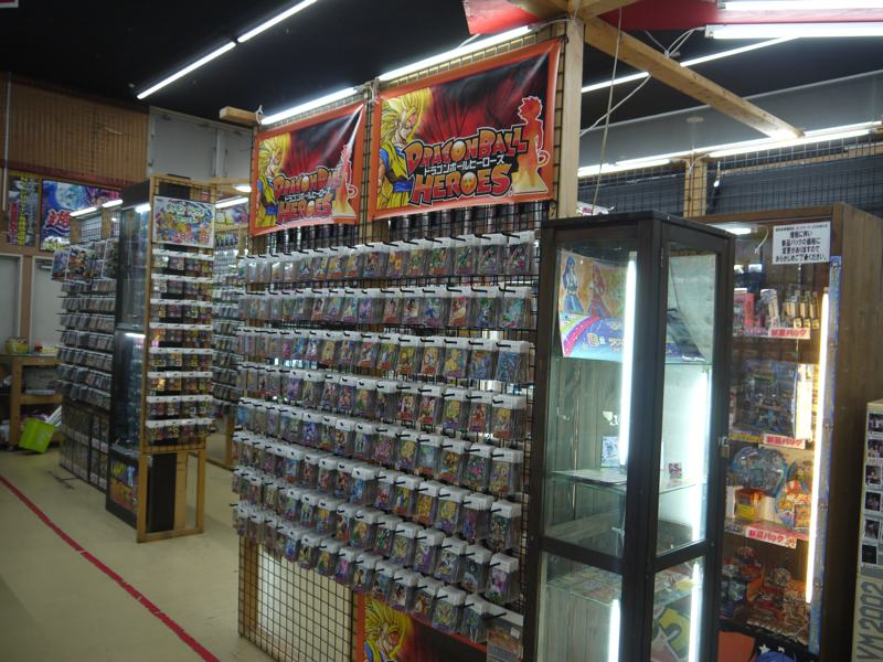 pokemon cards display in japan recycle shop