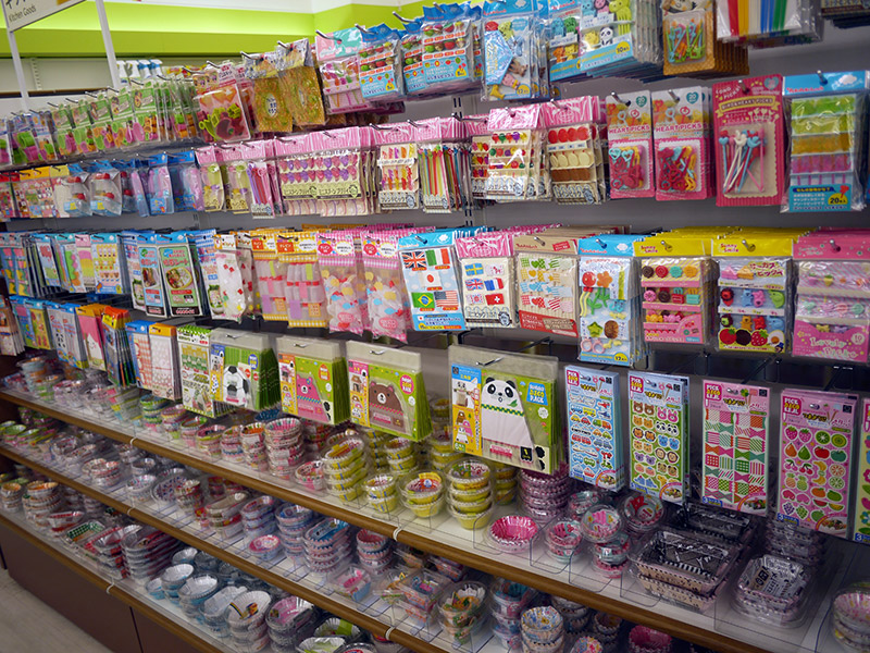 Bento accessories in cute shapes and colors