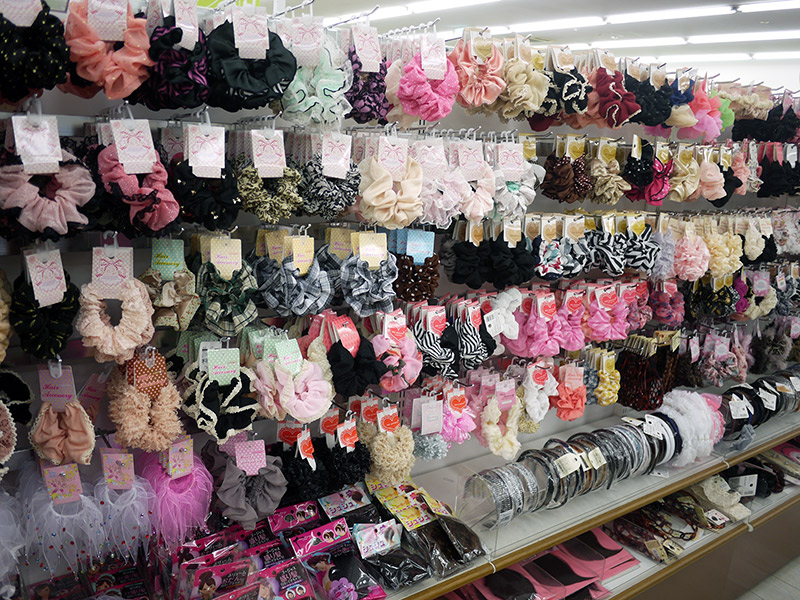 Scrunchies and other hair accessories