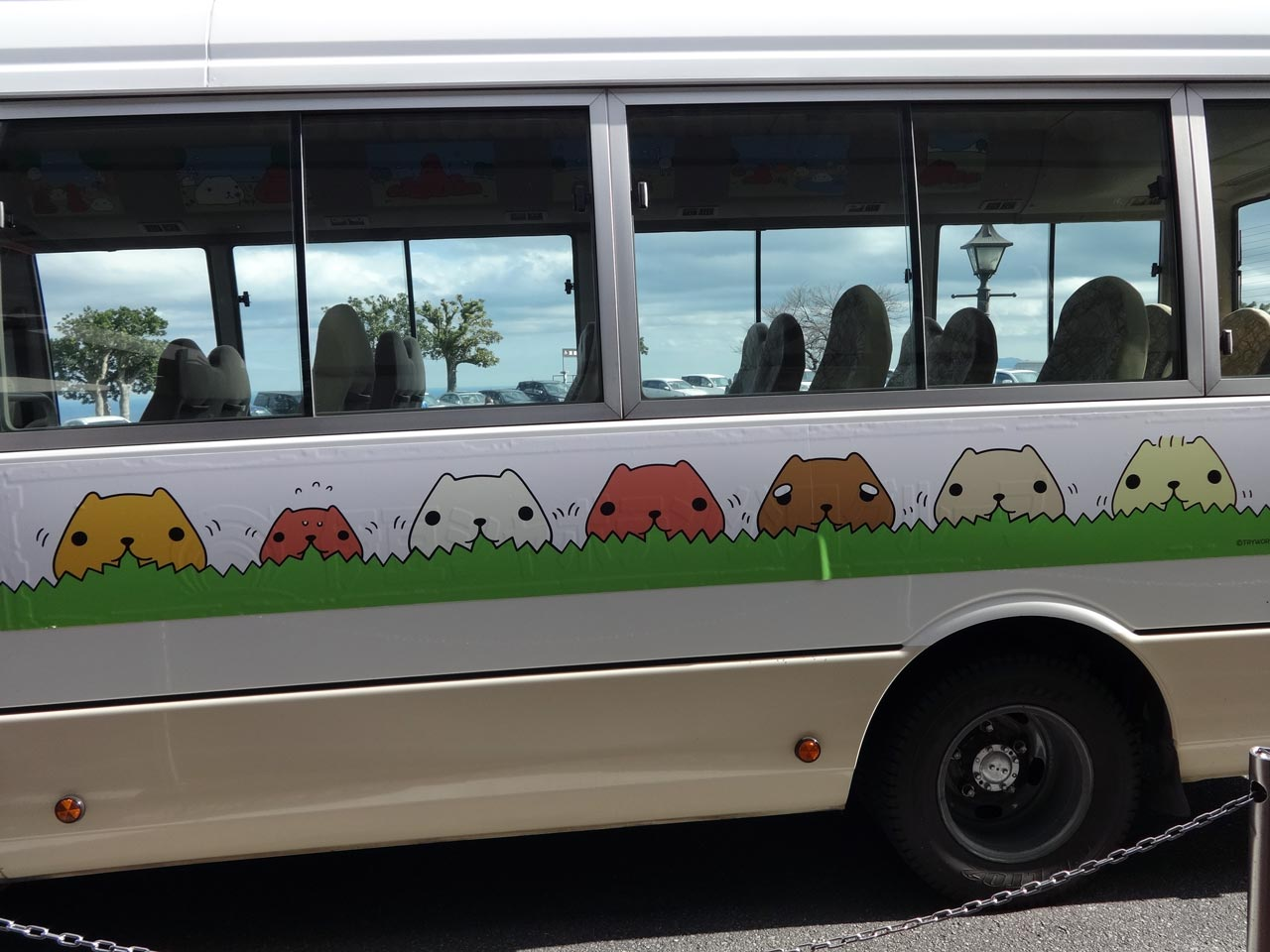 a bus with capybara on it