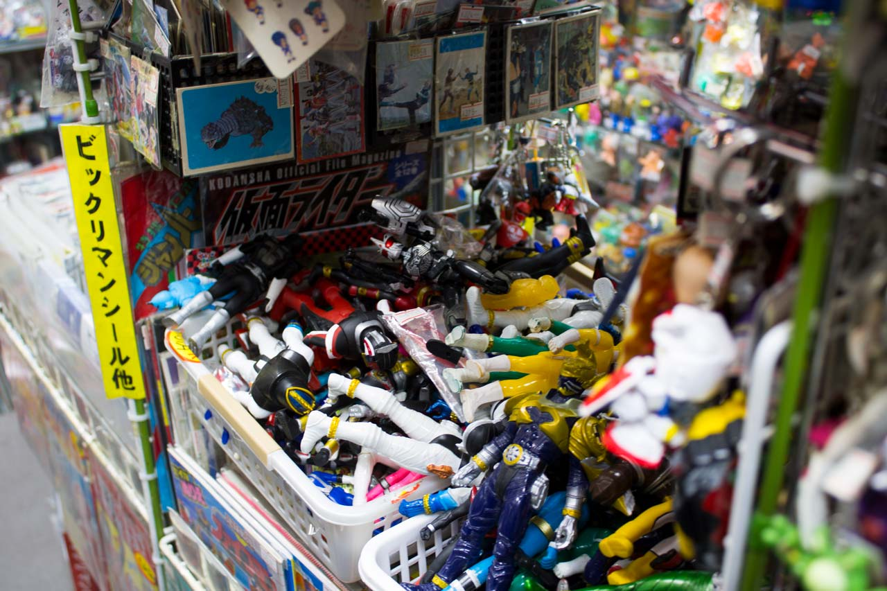bins of toys at nakano broadway