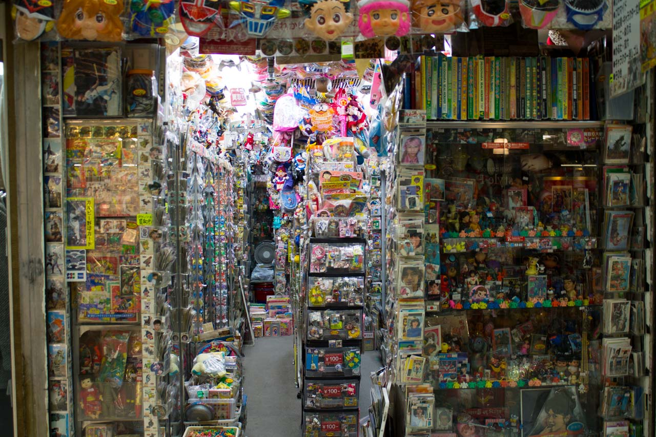 inside of nakano broadway toy store in tokyo