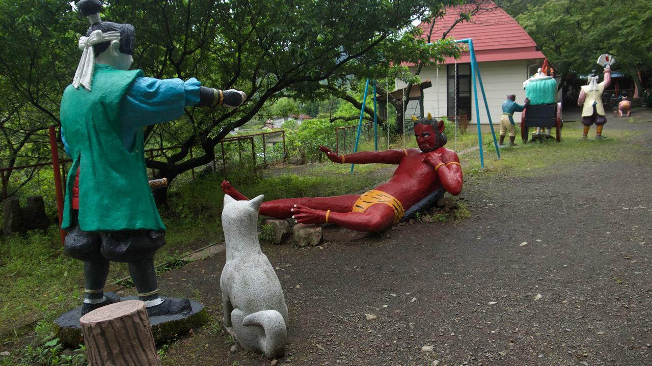 momotaro conquering an oni