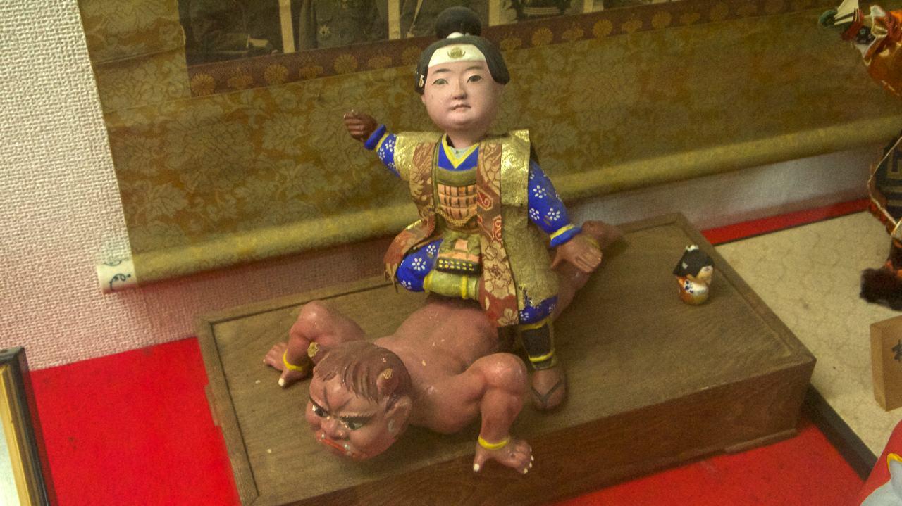 collection of momotaro figurines