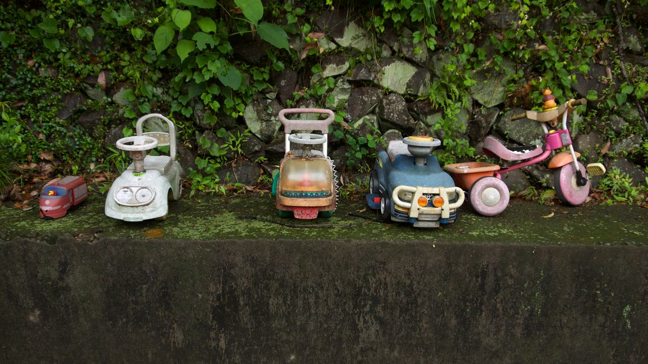 abandoned japanese toys