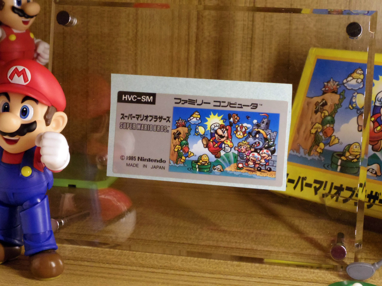 original super mario bros game label from factory